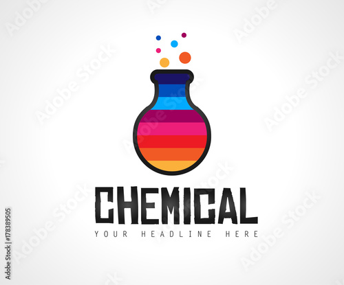 Creative Chemical Lab Colorful Logo Design For Brand Identity Company Profile Or Corporate Logos