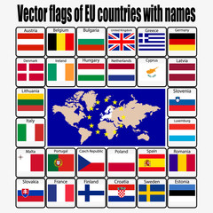 set flags of the European Union