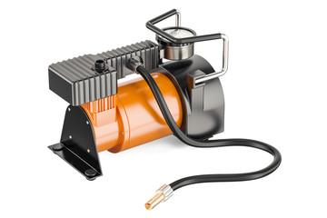 Car portable electric air compressor, 3D rendering