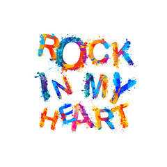 Rock in my heart. Splash paint