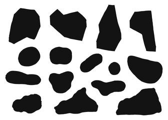 stones silhouette vector. isolated on white background