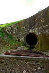 Sewer under the bridge