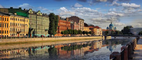 Embankment of the Fontanka river in Saint Petersburg