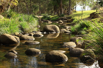 A Magical Stream Of Stepping Stones