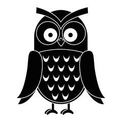 owl bird isolated icon