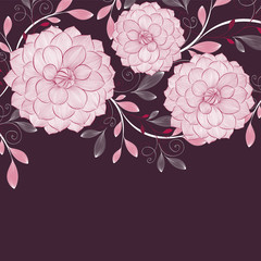 Floral background with flower dahlia. Element for design. Vector illustration.