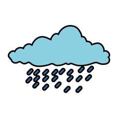 cloud sky silhouette with rain drops