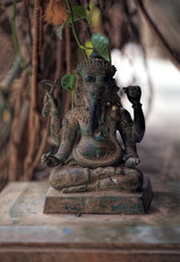 Hindu God Ganesh statue idol, Lord Ganesh the Remover of Obstacles and the god of success.Buddhism Elephant Ganesha God of Wealth Statue.