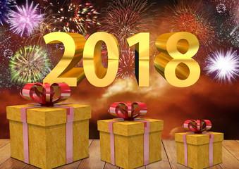 Celebração da chegada do ano novo de 2018