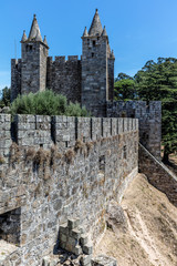 Santa Maria da Feira Castle in Portugal, a testament to the military architecture of the Middle Ages and an important point in the Portuguese Reconquista.