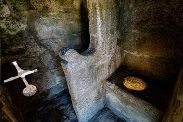 Medieval toilet in the Santa Maria da Feira castle in Portugal