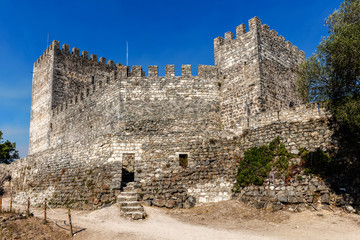 Medieval Castle of Leiria in Portugal, constructed by order of the first king of Portugal, Afonso Henriques, in 1135.