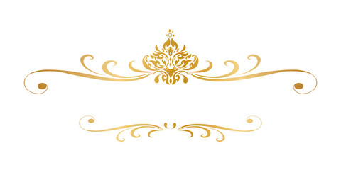 Line Thai Golden , The Arts of Thai, line pattern background, graphic thai, Vector illustration