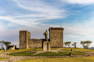 Medieval Castle of Ourem, served as watch-post for the Castle of Leiria during the Portuguese Reconquista in the 12th century.