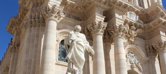 Cathédrale de Syracuse (Ortygie) / Sicile - Italie Fototapete