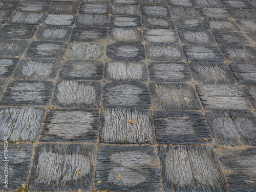 Pattern of walkway concrete block paving  Abstract background