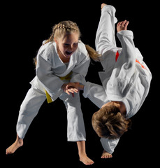Children martial arts fighters