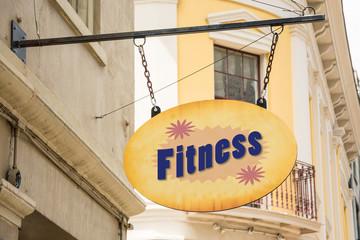 Schild 278 - Fitness