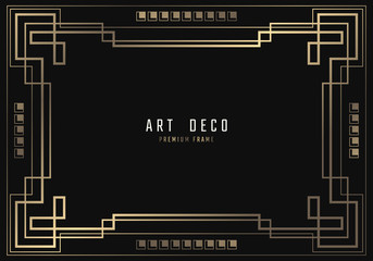Search photos gatsby vector geometric frame in art deco style rectangle noble design for invitations cards stopboris