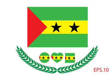 Official vector flag of sao-tome-and-principe. Eps.10