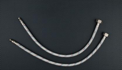Water flexible hose in metallic braiding