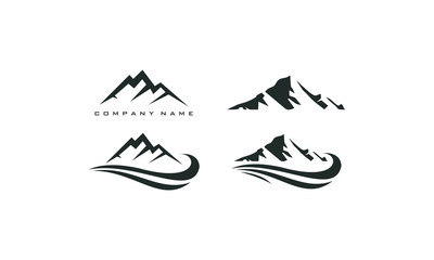 mountain peak logo template Wall mural