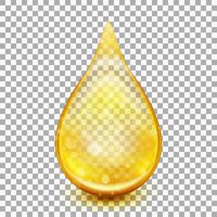 Golden oil droplets. EPS 10