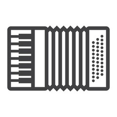 Accordion line icon, music and instrument, sound sign vector graphics, a linear pattern on a white background, eps 10.
