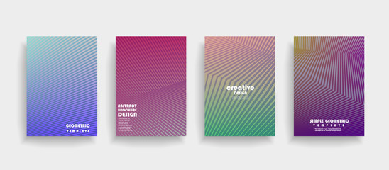 Brochure. Geometric halftone gradients. Eps10 vector.