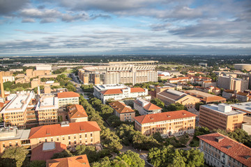 View of the Football Stadium, University of Texas