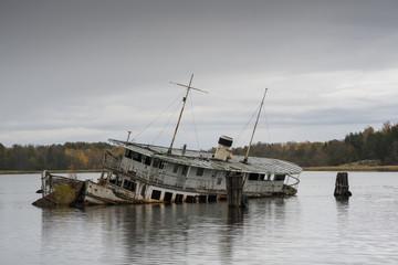 Old abandoned boat MS Legend