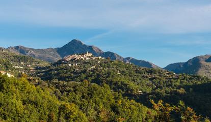 Mountain old village Coaraze, Provence Alpes Cote d'Azur, France.
