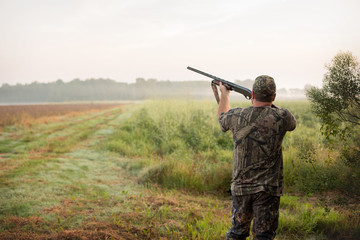 Dove Hunter in a Louisiana Field