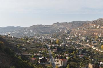 Village de montagne dans le Mont Liban