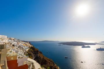 Cruise Ships at Fira, Thira, Santorini, Greece
