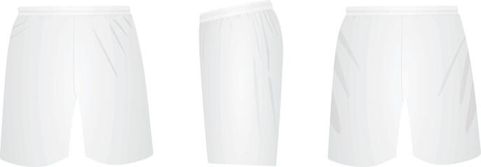 White shorts. vector illustration Fototapete