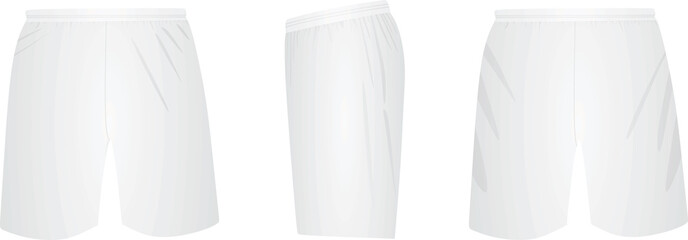 White shorts. vector illustration