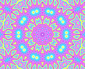 Background with bright colorful concentric pattern