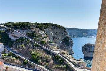 Bonifacio cityscape, Corsica, France.