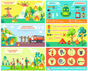 Fighting with Fire in Forest and Rules Collage