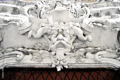 gypsum sculpture on facade