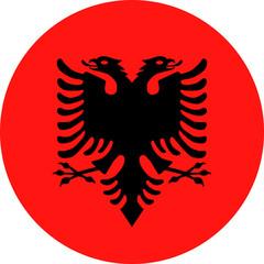 Albania Flag Vector Round Flat Icon