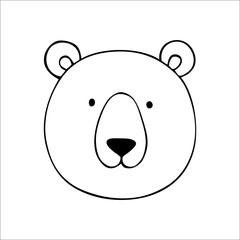 Vector bear. Hand drawn illustration