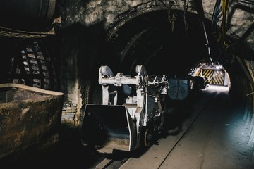 Transport wagon in underground coal mine