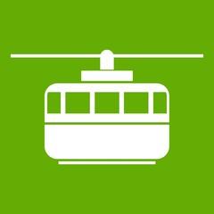 Funicular icon green