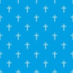 Crucifix pattern seamless blue