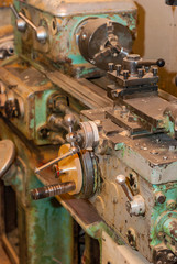 Old working lathe in production