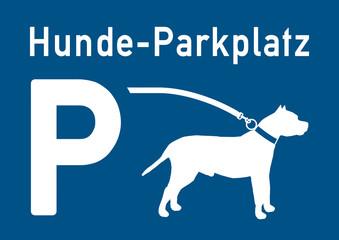 psn12 ParkingSignNew psn - ks233 Kombi-Schild - Hinweis: Hunde-Parkplatz - shopping - Hundeparkplatz - DIN A2 A3 A4 - Vorlage Plakat - xxl g5601
