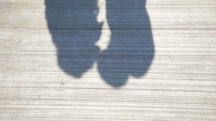Couple Kissing Shadow. Shadows of Lover Bride and Groom on white wall. Couple Kissing Shadow