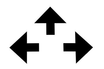 Pfeile in verschiedene Richtungen